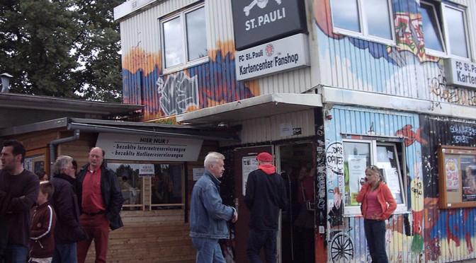 Früheres Kartencenter des FC St. Pauli in St. Pauli. Bild: Hanno H. Endres, Wikipedia.